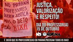 Dia 15/10/2016, a categoria na iminência de uma nova greve busca motivação e fortalecimento em sua luta política. Parabéns professores.