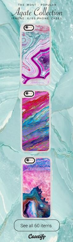 All time favourite Agate iPhone 6 protective phone case designs. Agate is a kind of beauty!   Click through to see more iphone phone case ideas >>> https://www.casetify.com/collections/iphone-6s-agate-cases#/?device=iphone-6s    @casetify