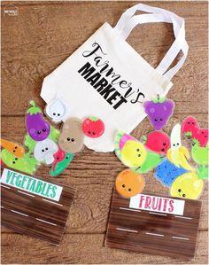farmers market busy bag - Free Printable!
