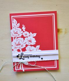 Lovely Birthday Card by Maile Belles for Papertrey Ink (July 2015)