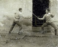 Gentlemen use swords.a little late in time, but, wtfn. Historical European Martial Arts, Historical Photos, The Fencer, Sword Poses, Fight Techniques, Fencing Sport, Fighting Poses, Art Articles, Fantasy Warrior