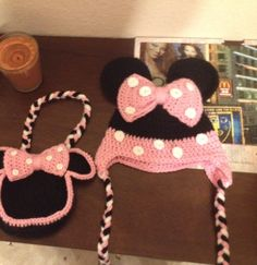 Minnie+mouse+beanie+by+createLOVEcrochet+on+Etsy