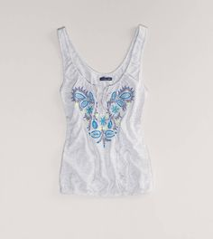 AEO Factory Embroidered Tank