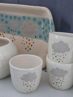 happy rain collection | por atelier polkadot ceramics