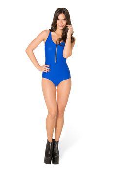 Matte Royal Blue Zip Suit (WW $70AUD / US $65USD) by Black Milk Clothing