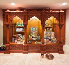 New simple pooja room door design Ideas Pooja Room Door Design, Home Room Design, House Design, Temple Room, Home Temple, Temple Grandin, Golden Temple, Juno Temple, Temple Lds