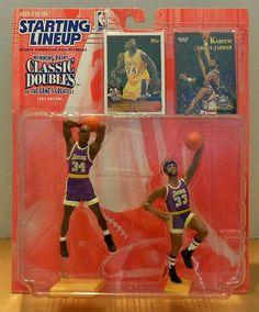 buy popular 94a64 9a7a3 Starting Lineup 1997 NBA Classic Doubles Shaq and Kareem Abdul-jabbar