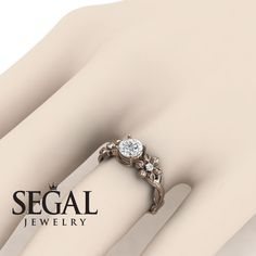 Rose gold engagement ring by Segal Jewelry – diamond rings engagement Unique Diamond Engagement Rings, Classic Engagement Rings, Beautiful Engagement Rings, Rose Gold Engagement Ring, Designer Engagement Rings, Diamond Rings, Black Diamond, Solitaire Diamond, Diamond Jewelry