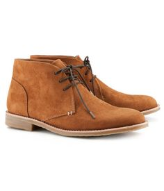 H and M suede boots. Very inexpensive and look great! I have a pair and these go great with most guys that wear lots of brown apparel! Super cool as a fall shoe in your wardrobe. Me Too Shoes, Men's Shoes, Mens Boot, Urban Outfitters, Walker Shoes, Zara, Dapper Men, Boys Wear, Desert Boots