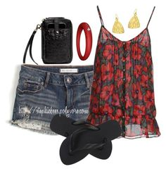 """""""Summer Picnic"""" by stephiebees ❤ liked on Polyvore featuring Elliott Lucca, Bullhead Denim Co., Pepe Jeans London, Havaianas, DuePunti and Mattlin Era"""