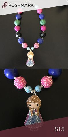 Frozen Anna chunky bubblegum necklace Handmade, high quality Anna chunky bubblegum necklace. Simply pair it with your little cuties outfit or as a prop for a photo shoot! Disney Jewelry Necklaces