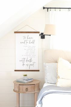 """""""To Have And To Hold"""" Canvas Banner Barn Wood Signs, Reclaimed Barn Wood, Wooden Signs, Head Table Decor, Wall Decor, Wedding Canvas, Wood Artwork, Making Signs On Wood, Bedroom Signs"""