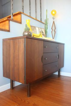 Vintage Mid Century Modern Credenza / Buffet / By Momidmodern