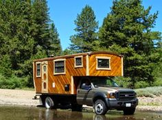 The Flying Tortoise: This Is A Beautifully Crafted Wooden Housetruck Of Exceptional Quality...