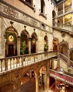Stairways, Hotel Danieli, Venice, Province of Venezia, Veneto italy