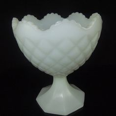 Vintage NAPCO Milk Glass Footed Compote Candy Dish by GigisWhimsy