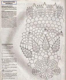 Loza: Doilies crochet Crochet Doily Diagram, Crochet Doily Patterns, Crochet Mandala, Crochet Chart, Thread Crochet, Filet Crochet, Crochet Motif, Crochet Stitches, Crochet Home