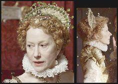 Elizabeth I (2005) Helen Mirren as Elizabeth I Queen of England - fantastic headdresses