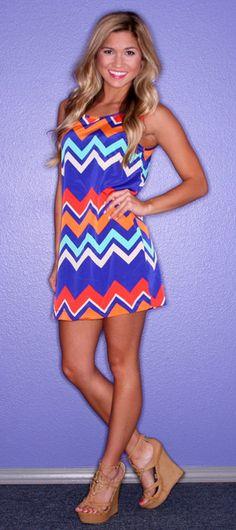 Paris Stripe Royal | $32.00 #fashion #dress #summer