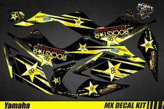 Kit Déco Quad pour / Atv Decal Kit for Yamaha Raptor - Rockstar Quad, Yamaha Raptor, Iron Man Birthday, Motogp, Atv, Decals, Motorcycle, Bike, Stickers