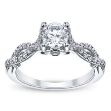 Classic Solitaires Engagement Rings | Robbins Brothers.....in yellow gold....with round diamond ;D