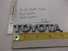 1999-2003 Toyota Solara rear trunk emblem  logo oem 75447 06020 factory B13 #oemToyota