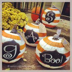 preppy monogram pumpkins...you can do this!: