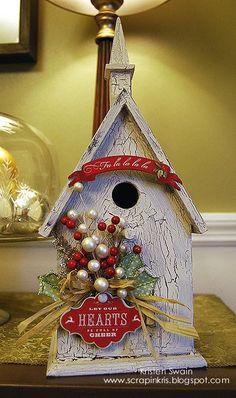 Christmas Birdhouses Crafts.113 Best Christmas Birdhouses Images Christmas Christmas