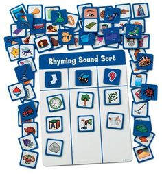 Rhyming Sounds Magnetic Match by Lakeshore Learning Materials,