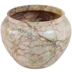 1stdibs - An Intense Veneer Art Deco Alabaster Vase