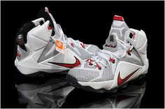 new concept 94849 d663a Lebron 12 Womens White Red Black0