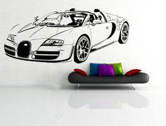 Wandtattoo  Auto Bugatti Wandsticker