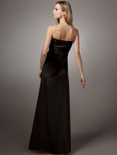 2012 Style Sheath / Column Sweetheart  Sleeveless Floor-length Satin Black Prom Dress / Evening Dress