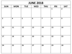 june 2018 calendar pdf word execl vertical and landscape format editable june 2018