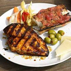 Grilled Spanish Chicken and Tomato Bread