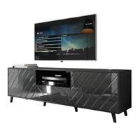 Milano Classic Modern 16 color 63-inch TV Stand | Overstock.com Shopping - The Best Deals on Entertainment Centers - Gray/Wavy Black Living Room Storage, Storage Spaces, Living Room Decor, Living Spaces, Long Tv Stand, Black Tv Stand, Tv Stand Overstock, Tv Stand Price, Modern Tv