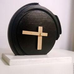 Часы для дома ручной работы. Ярмарка Мастеров - ручная работа. Купить Настольные часы ручной работы. Handmade. Черный, для интерьера