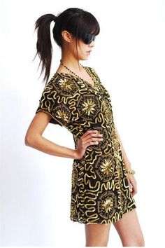 Golden Sunburst Dress