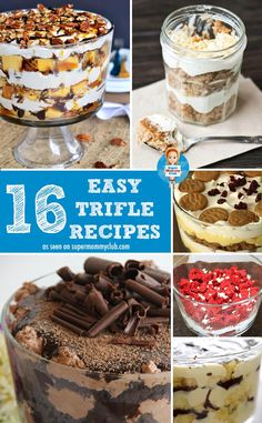 Easy trifle recipes for a crowd - perfect for gatherings, pot lucks and Holidays