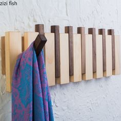 Wall Hangers For Clothes, Woodworking Projects Diy, Diy Wood Projects, Wood Crafts, Woodworking Plans, Wall Mounted Coat Hanger, Wood Coat Hanger, Wood Hooks, Furniture Arrangement