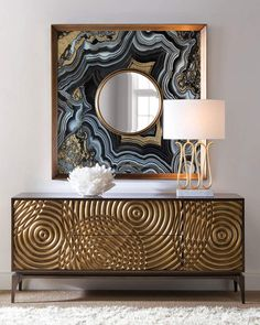 Love the details in this John-Richard Collection Golden Swirl Sideboard #affiliate