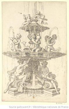 Projet de fontaine pour le Bassin de la Pyramide