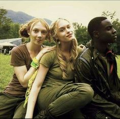 From left to right, Jackie Emerson, Leven Rambin, Dayo Okeniyi Glimmer Hunger Games, Hunger Games Cast, Hunger Games Fandom, Hunger Games Catching Fire, Hunger Games Trilogy, I Volunteer As Tribute, Fox Face, Katniss Everdeen, Mockingjay
