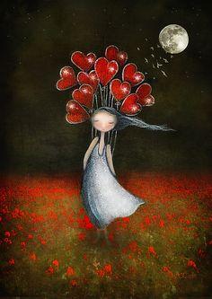 Risultati immagini per amanda cass illustrations Art Fantaisiste, Artist Art, Illustration Art, Illustrations, Heart Art, Moon Art, Whimsical Art, Belle Photo, Decir No
