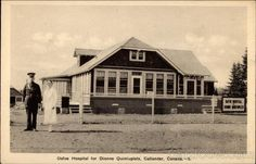Linen Postcard Dafoe Hospital for Dionne Quintuplets Callander, ON Canada Ontario Canadian History, Geography, Canada Ontario, Cabin, House Styles, Cobalt, Boudoir, Organizing, Temple
