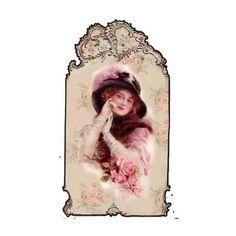 x - vintage lady tag Clip Art Vintage, Images Vintage, Vintage Tags, Vintage Labels, Vintage Ephemera, Vintage Pictures, Vintage Postcards, Vintage Prints, Decoupage Vintage