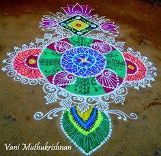 Muggu.Rangavalli.Rangoli.Kollam [(ముగ్గు) రంగవళ్లి கொல்லம் रँगोली ರಂಗೋಲ]
