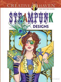 Creative Haven Steampunk Designs Coloring Book @Christina Laage @Victoria Maloy