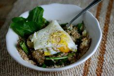 Savory Porridge with Dandelion Greens, Cheddar, and Egg   Further Food