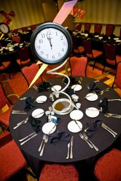 Mitzvah Inspire Back to the Future time centerpiece